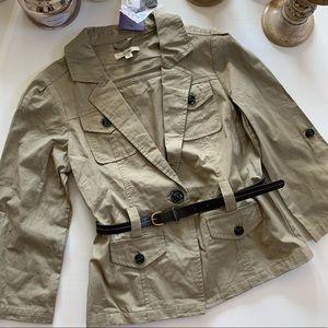 Kahki belted jacket Blazer